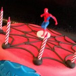 Le gâteau spiderman